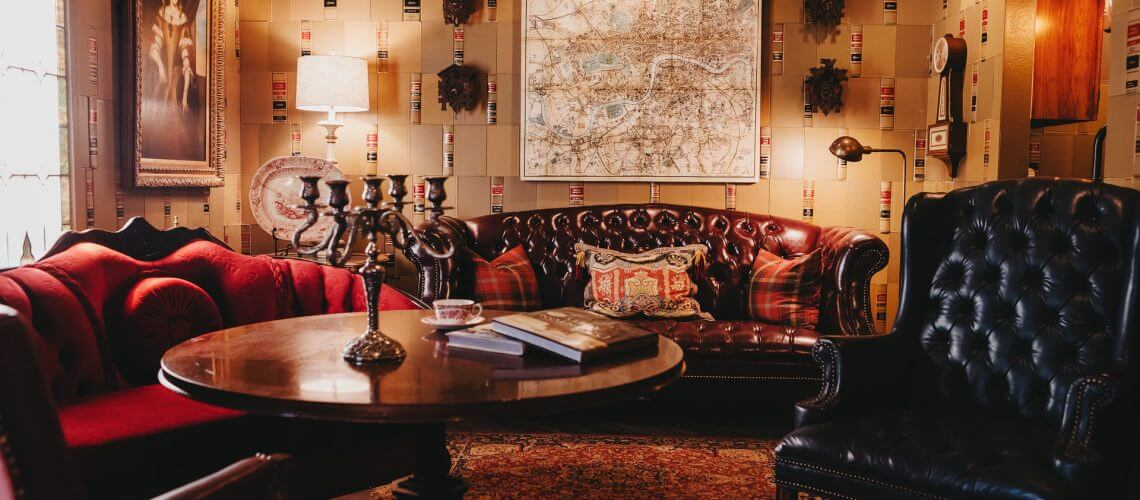 Downton Abby Lounging area